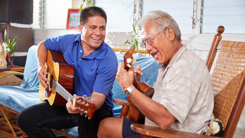 Navian Hospice Hawaii complementary music therapy